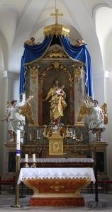 Hochaltar Kirche Halbturn